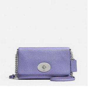 Authentic Coach Purple p Clutches Handbags